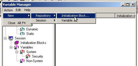 create init block