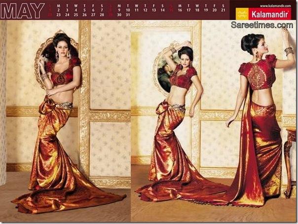 Maroon_Designer_Kalamandir_Saree