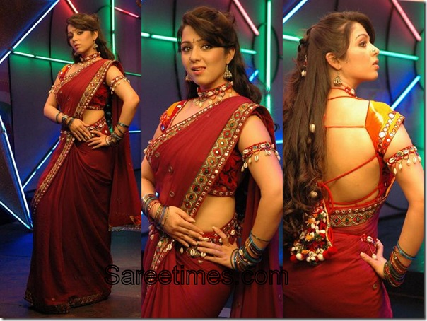 Charmi_Red_Designer_Saree
