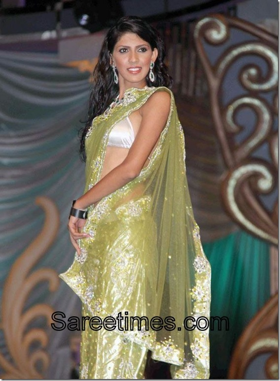 Moss_Green_Designer_Saree