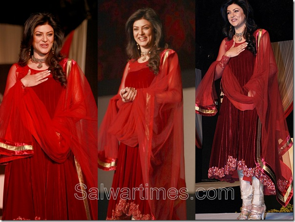Sushmita_Sen_Maroon_Designer_Salwar_Kameez