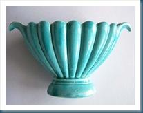Vintage Aqua Blue Pottery
