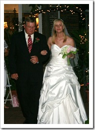 Dad and I walking down the aisle