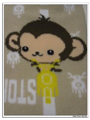 套子上有可愛猴子其摩托車的圖案