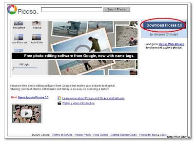 到http://picasa.google.com下載