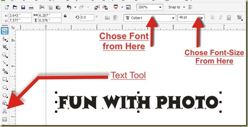 Text Reflection Effect in CorelDraw