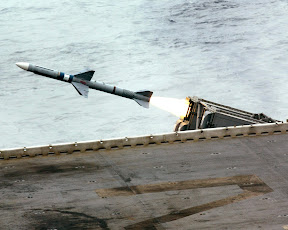 Sea Sparrow missile being fired