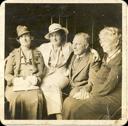Annie Pearson c 1932 (far right, age 76)