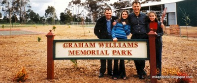 GAW Park dedication - Grant, Kylie, Michael, Stacey