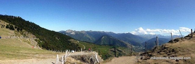 Col d'Aspin view over Arreau
