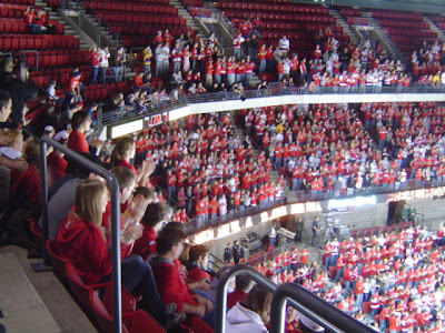image of hockey game crowd