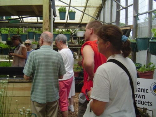 image of tour group at Growing Power in Milwaukee