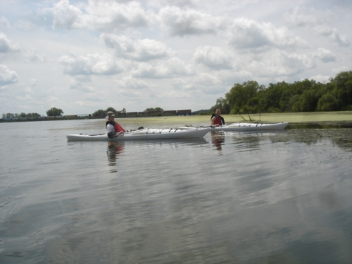 image of Tim and Sean in kayaks