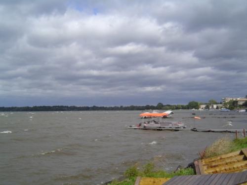 image of rough lake