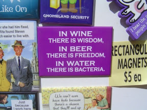 In wine there is wisdom; in beer there is freedom; in water there is bacteria