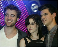 Robert Pattinson, Kristen Stewart, Taylor Lautner, the cast of 'Twilight Saga: New Moon' attends the annual HBV Jugendtreff concert event at Olympiahalle Muenchen. Munich, Germany - 14.11.2009 Credit: WENN.com