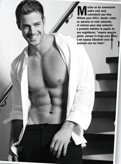 foto calendario william levy 2011