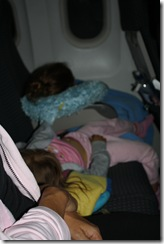 The kids passed out in their seats