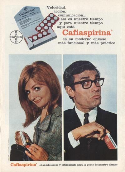 Publicidad Cafiaspirina 1969