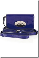 Mulberry patent-leather iPhone bag