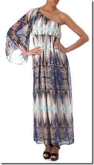 One shoulder tribal maxi