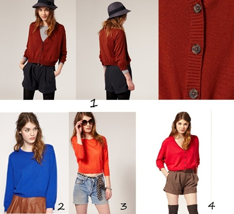 Coloured Cardi & Jumper
