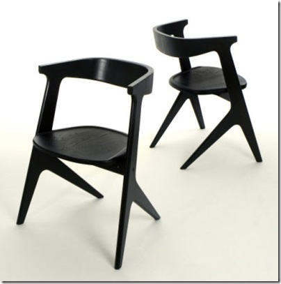Black Slab Chair