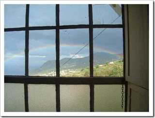 Rainbow out of the new Bedroom window.