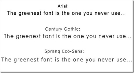 the greenest font is the one you never use