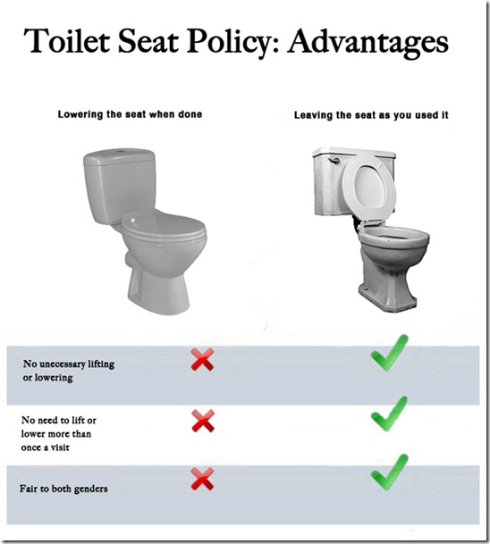 toilet seat up or down