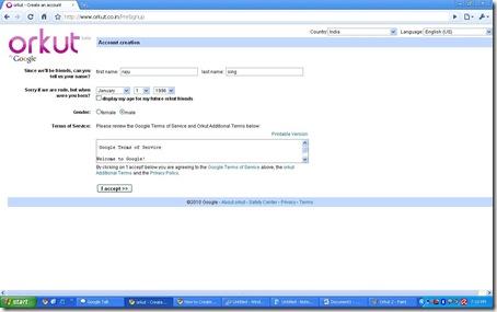 how to make orkut account