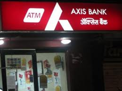 AXIS Bank ATM center in Delhi.