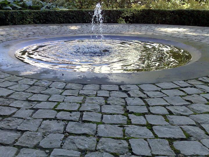 garden,  fountain