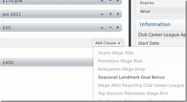 Football Manager 2011: Seasonal Landmark Goal Bonus