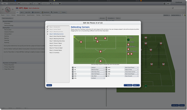 Defending Corners in Football Manager 2011