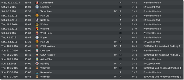 Leeds matches in season #7, FM 2010