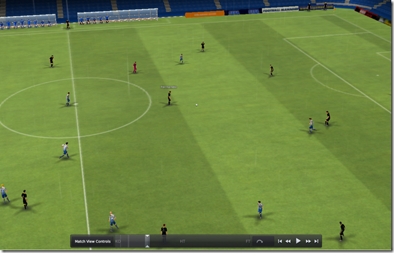 TV camera angle in Football Manager 2011