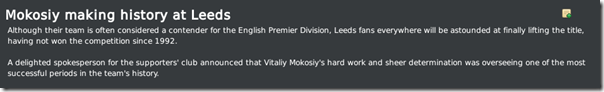 My last success of Leeds in FM 10