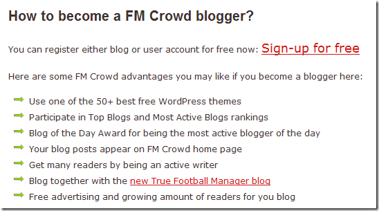FM Crowd registration
