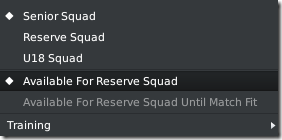 Available for Reserve squad