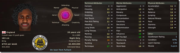 Pascal Yarbo in Football Manager 2011