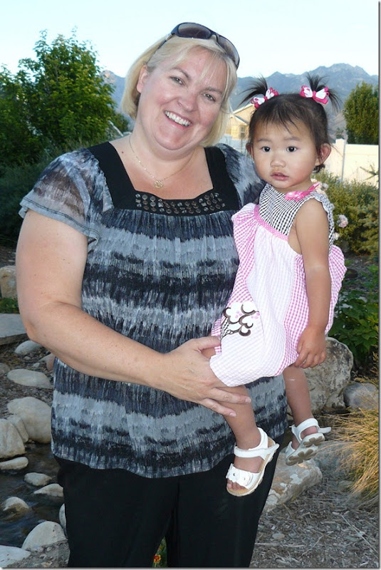 Hannah and I in Utah, July 10, 2010
