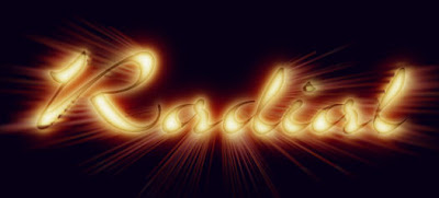 Logotipo con el efecto Viento aplicado de forma radial