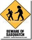 Beware of Sasquatch Clip Art