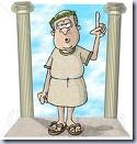 Roman Era Philosopher Clip Art