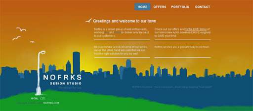 NOFRKS.design - Inspiring cityscape in web design example