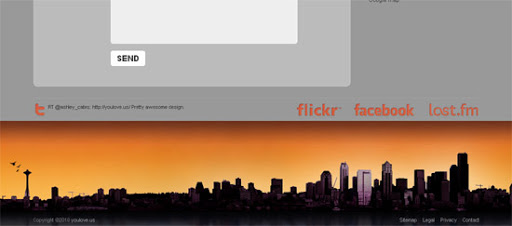 youlove.us - Inspiring cityscape in web design example