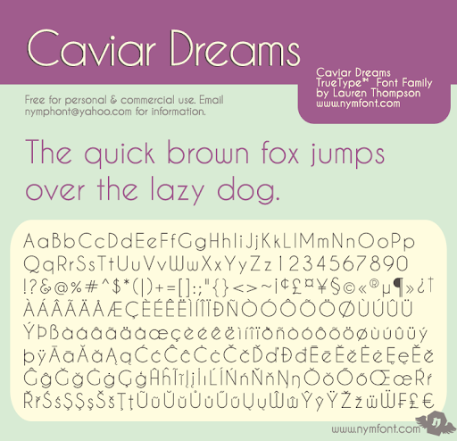 Caviar Dreams Font Family Poster