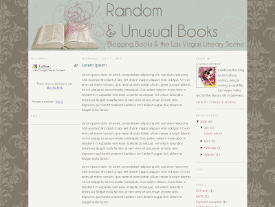 Random & Unusual Books Blog Design