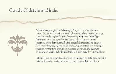 Goudy Oldstyle Font